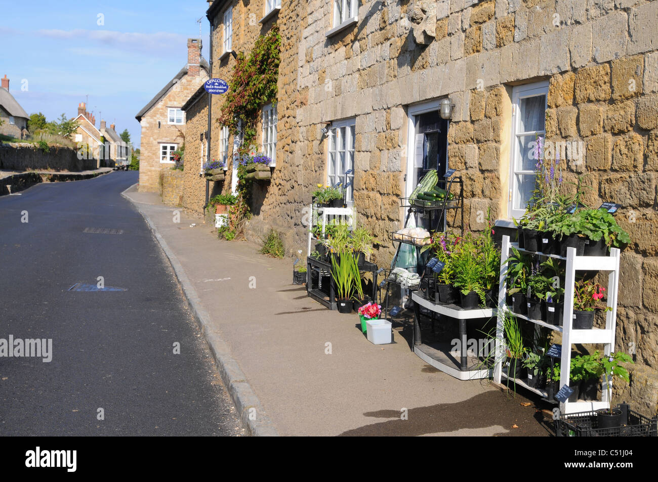 Home produced produce for sale outside a cottage in Abbotsbury, Dorset - Stock Image
