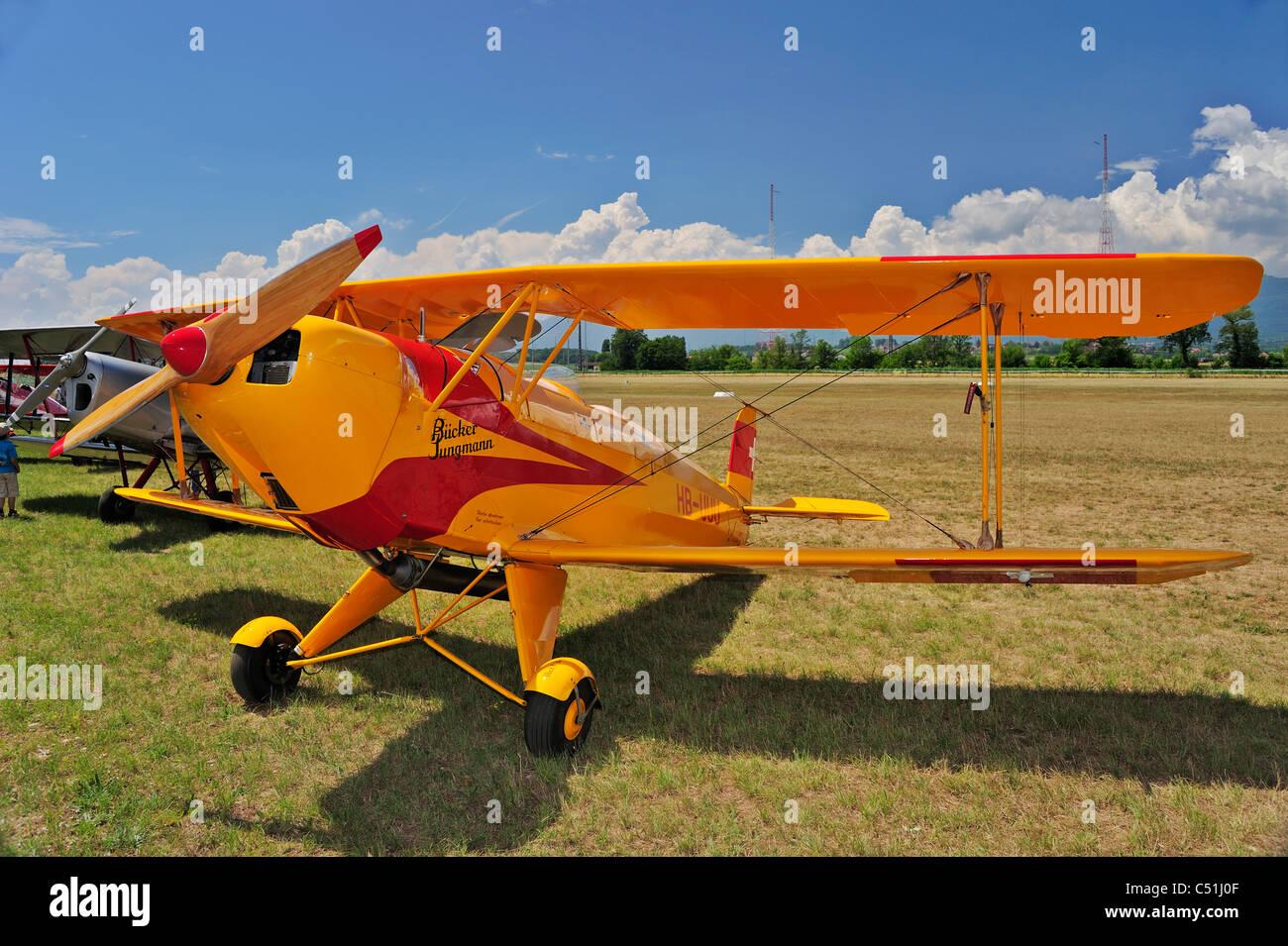 A Bucker Jungmann biplane - Stock Image