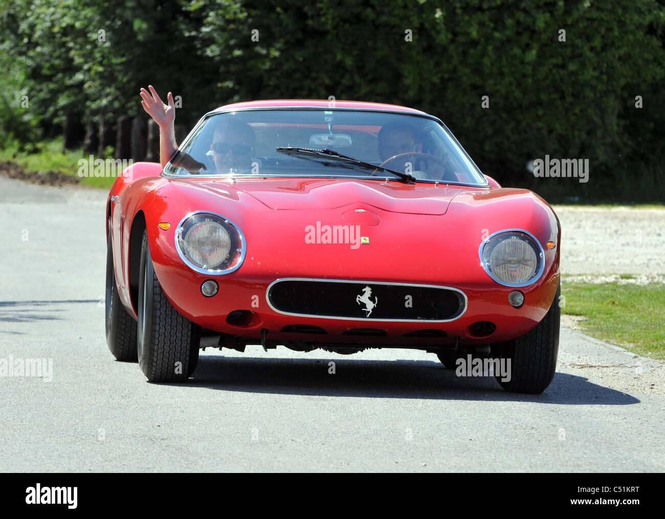Uk Dorset Dj Chris Evans Drives His 12m Red 1963 Ferrari 250 Gto Stock Photo Alamy