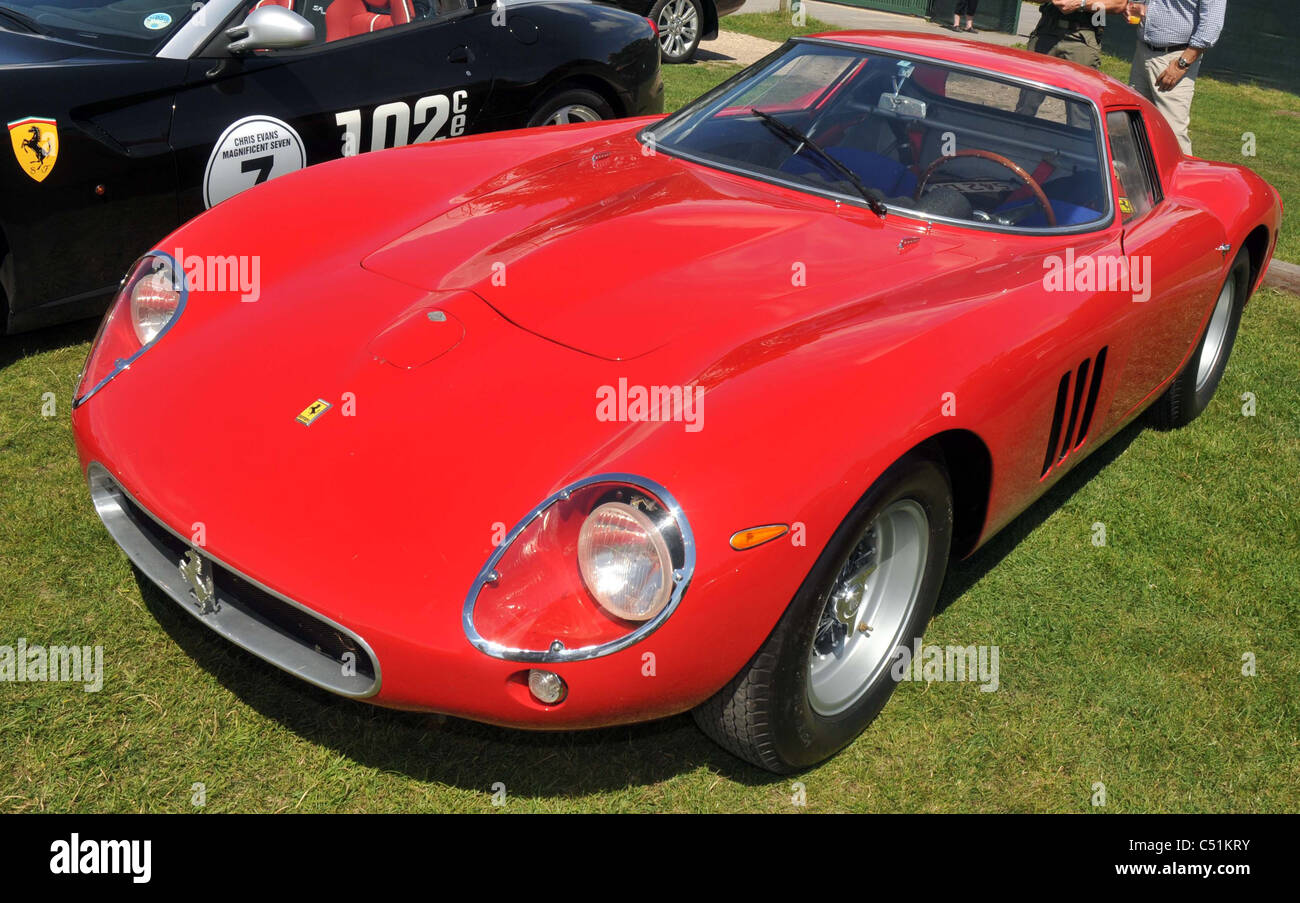 UK, Dorset, DJ Chris Evans' £12m red 1963 Ferrari 250 GTO during his three day charity challenge. - Stock Image