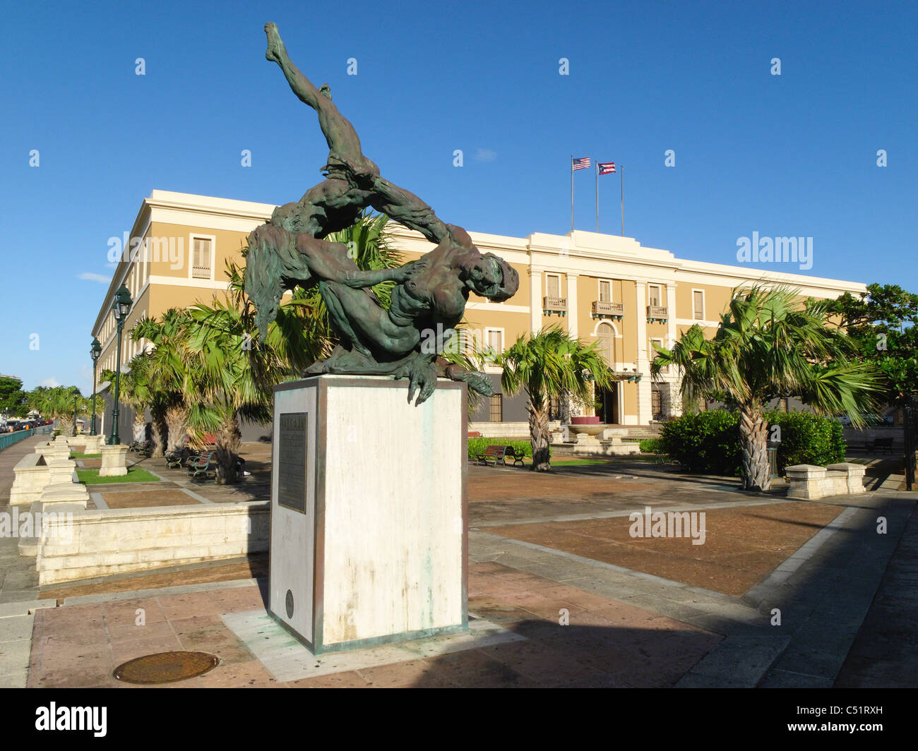 The Sculpture Ballaja in Old San Juan - Stock Image