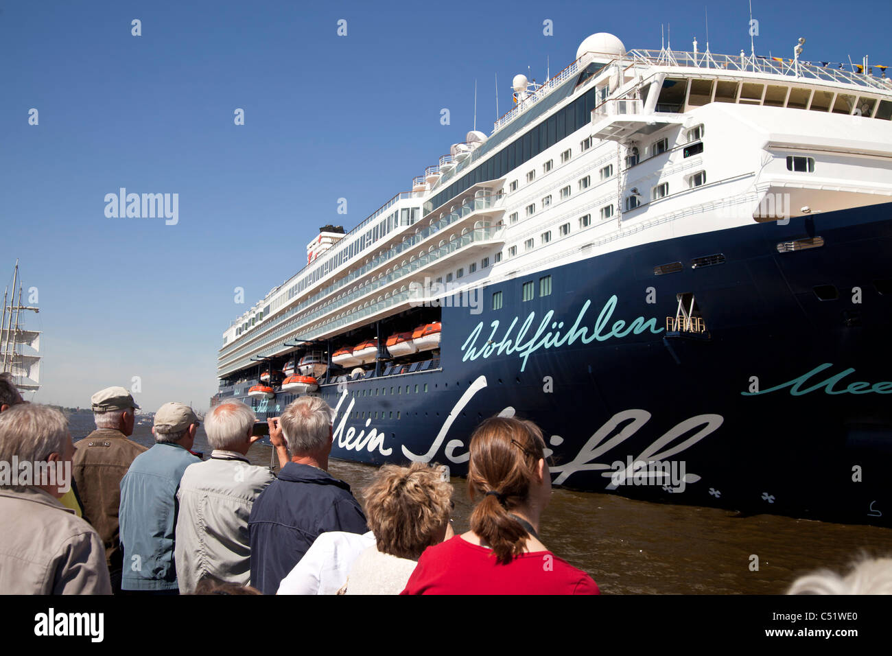 cruise ship Mein Schiff at the Harbour Birthday 2011 in the free and Hanseatic City of Hamburg, Germany - Stock Image