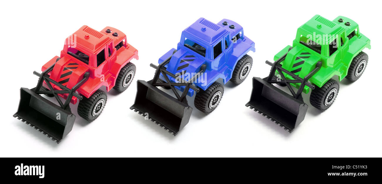 Toy Earth Movers - Stock Image
