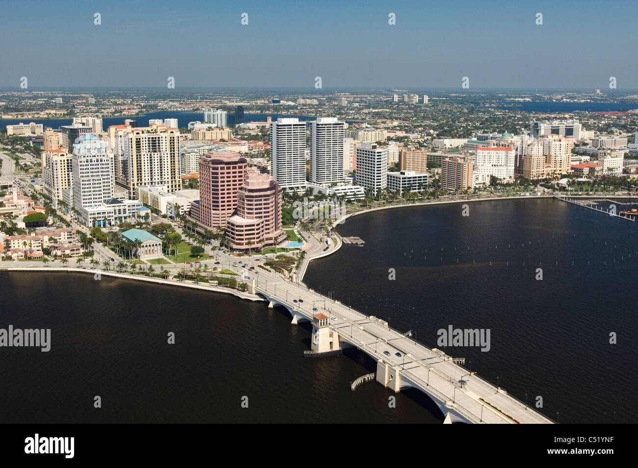 West Palm Beach Florida Downtown City Buildings And
