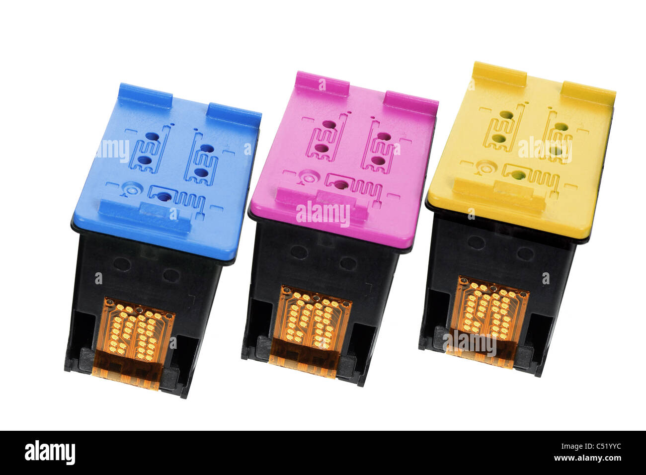 Color Ink Cartridges - Stock Image