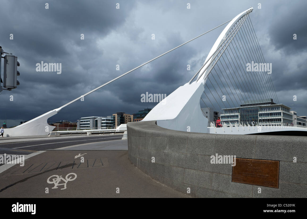 The Samuel Beckett Bridge over the River Liffey, Dublin City, Ireland Stock Photo