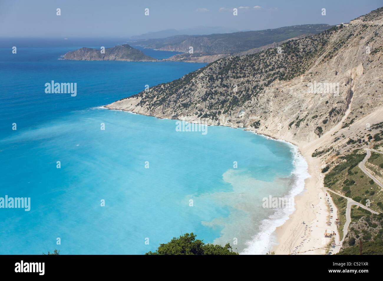 Myrtos Beach. Kefalonia Greece. - Stock Image