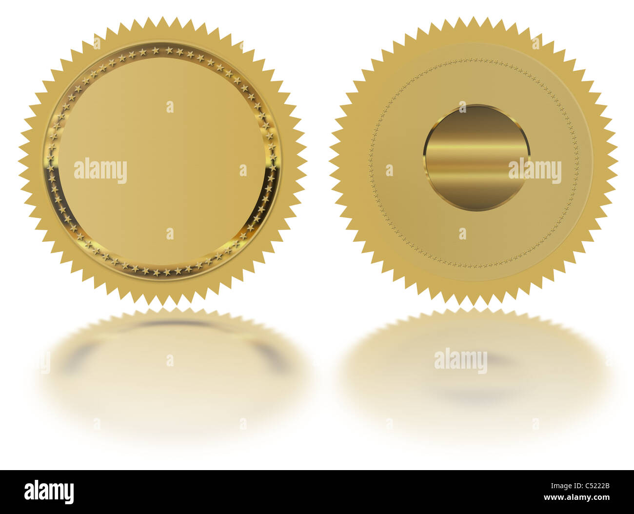 Gold seal /Stamp /Medal blank Stock Photo: 37539555 - Alamy