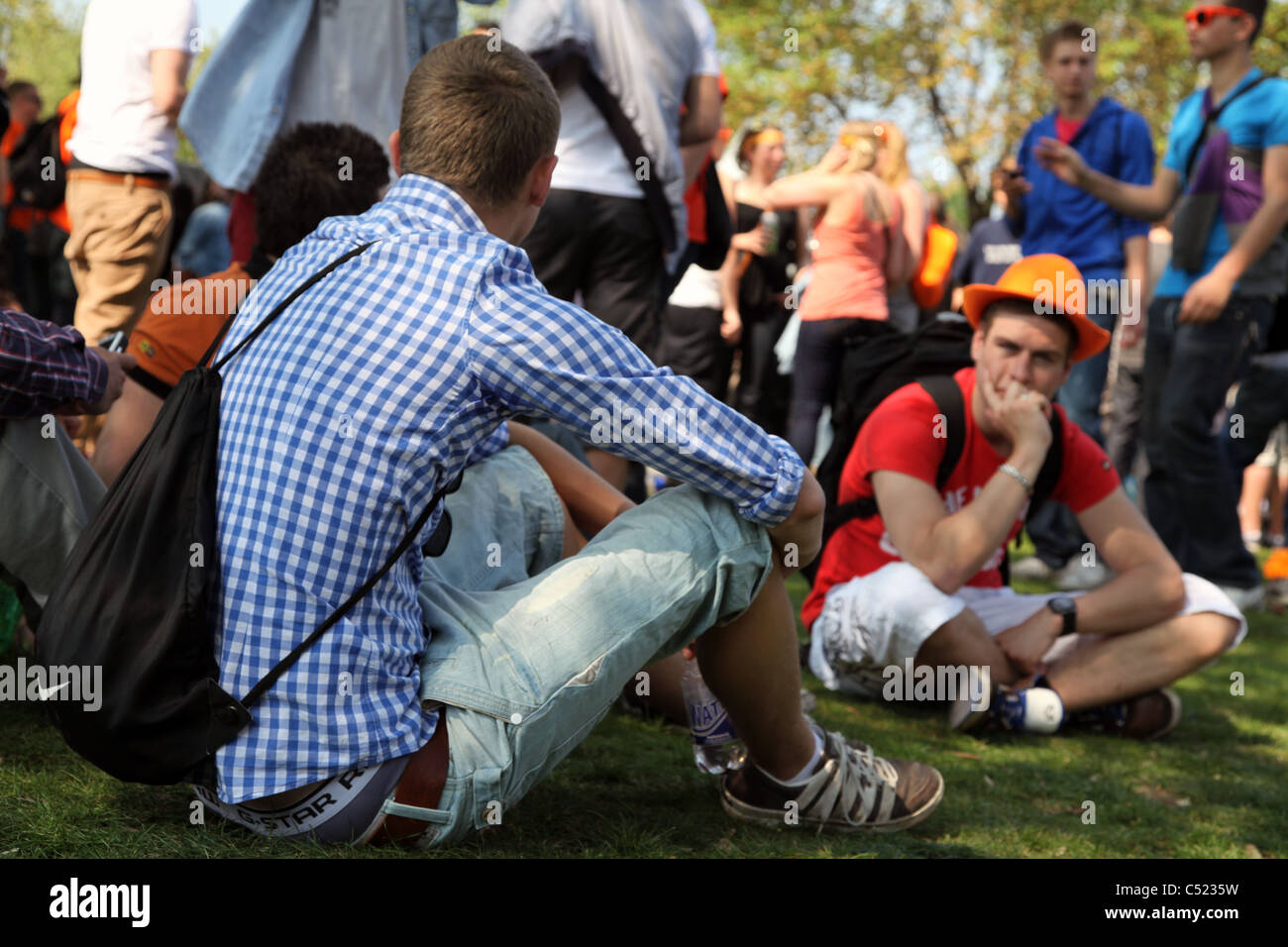 Queens Day Celebrations Amsterdam - Stock Image