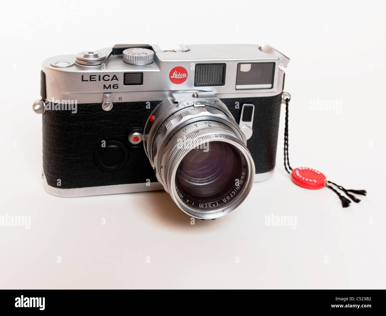 Leica M6 rangefinder camera - Stock Image