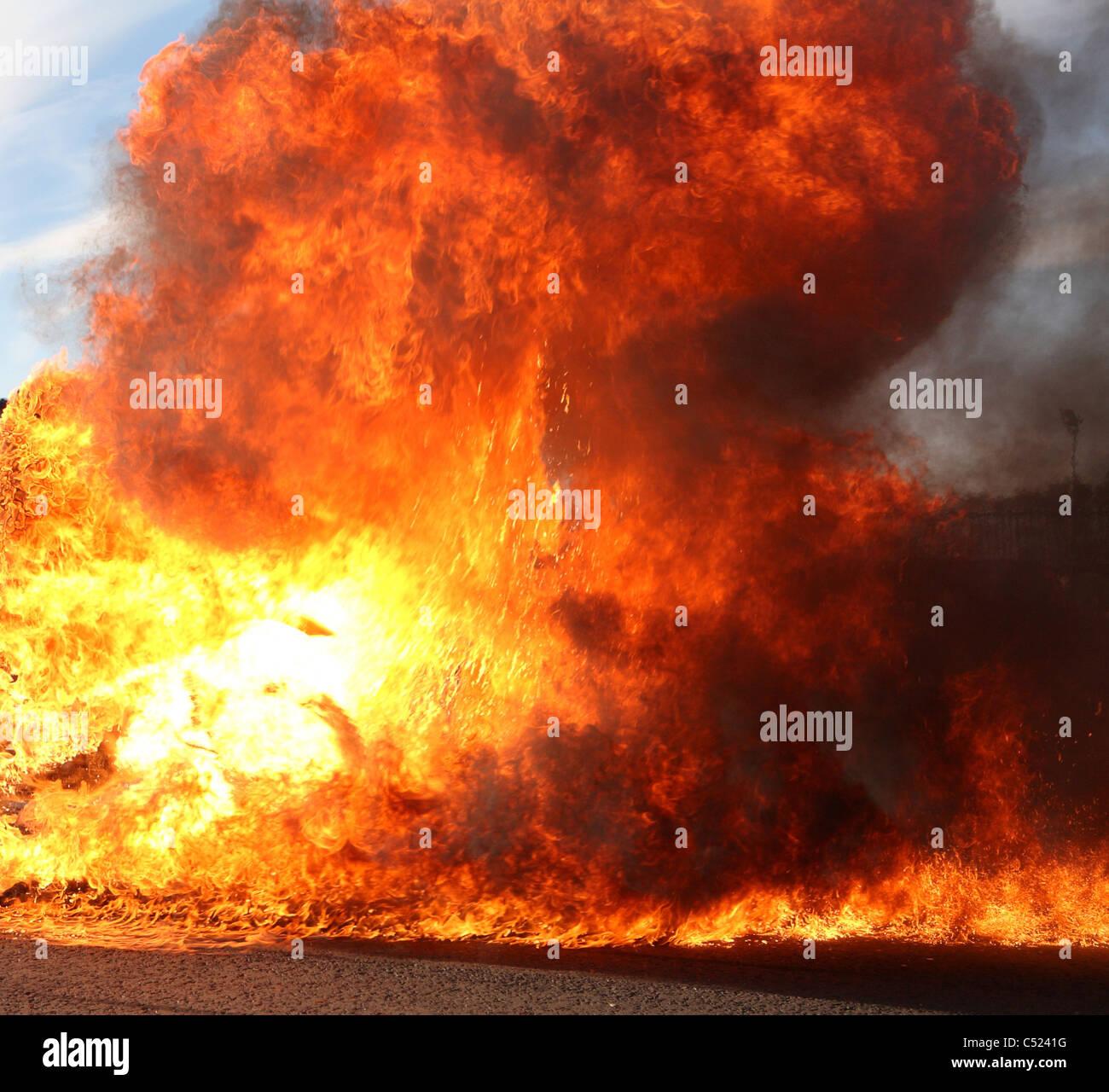 blazing inferno - Stock Image