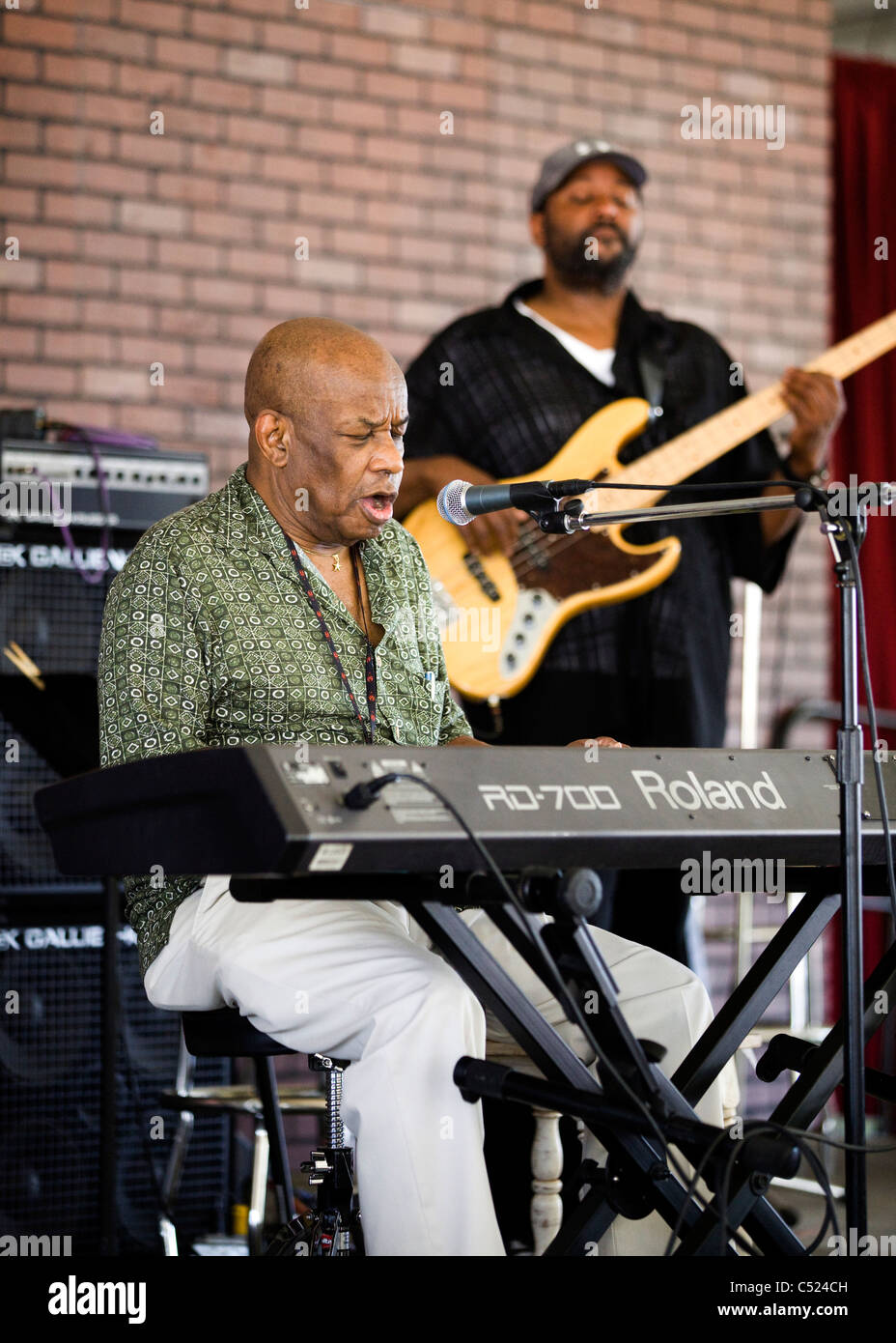 An African American Rhythm And Blues Singer On Keyboard
