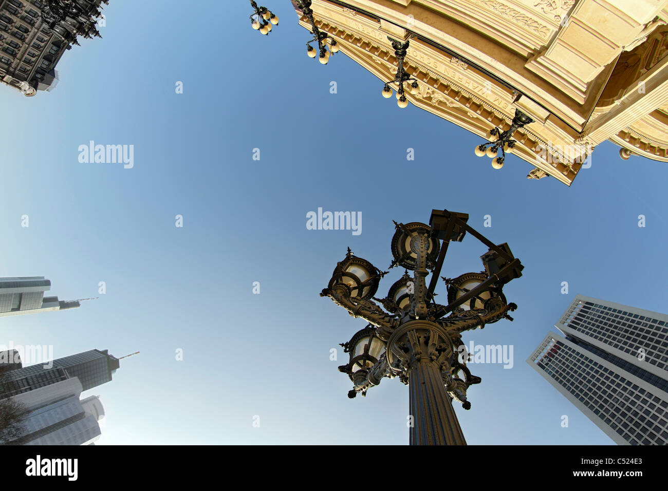 Alte Oper Frankfurt, frog perspective, Frankfurt am Main, Hesse, Germany, Europe - Stock Image