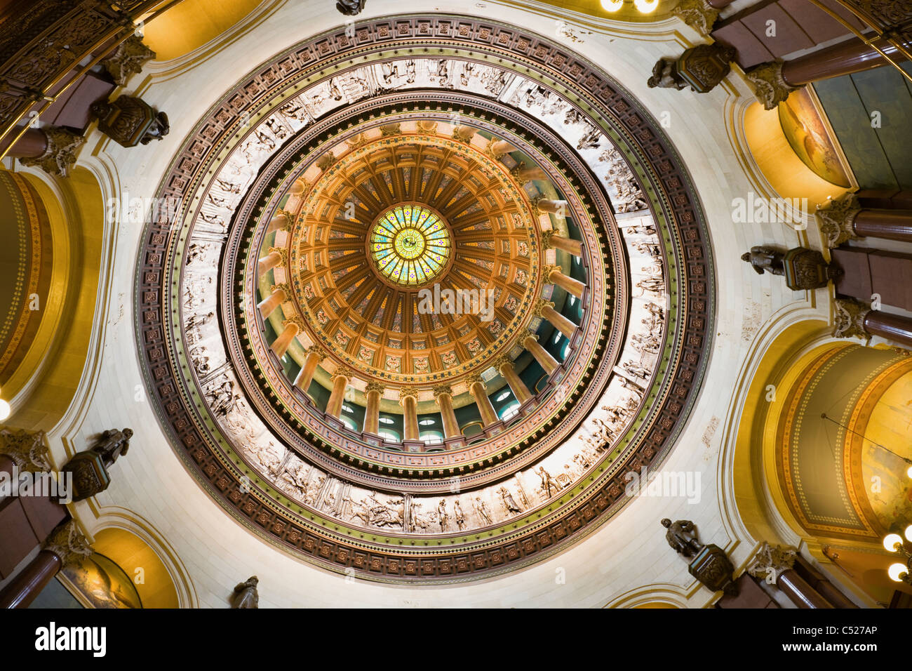 Springfield, Illinois - dome inside of State Capitol Stock Photo
