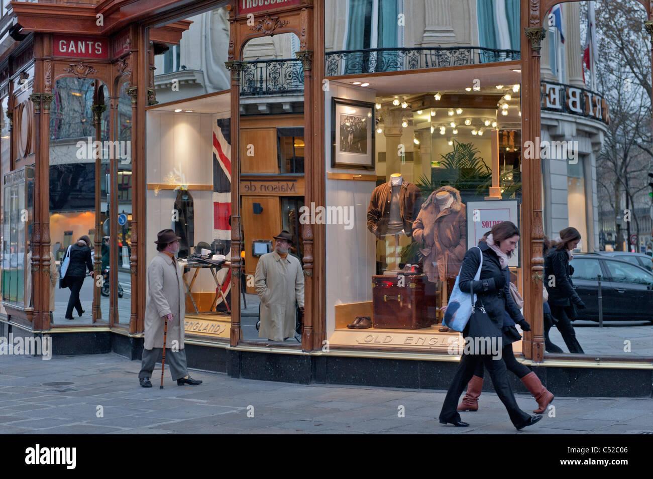 Old England Paris France - Stock Image