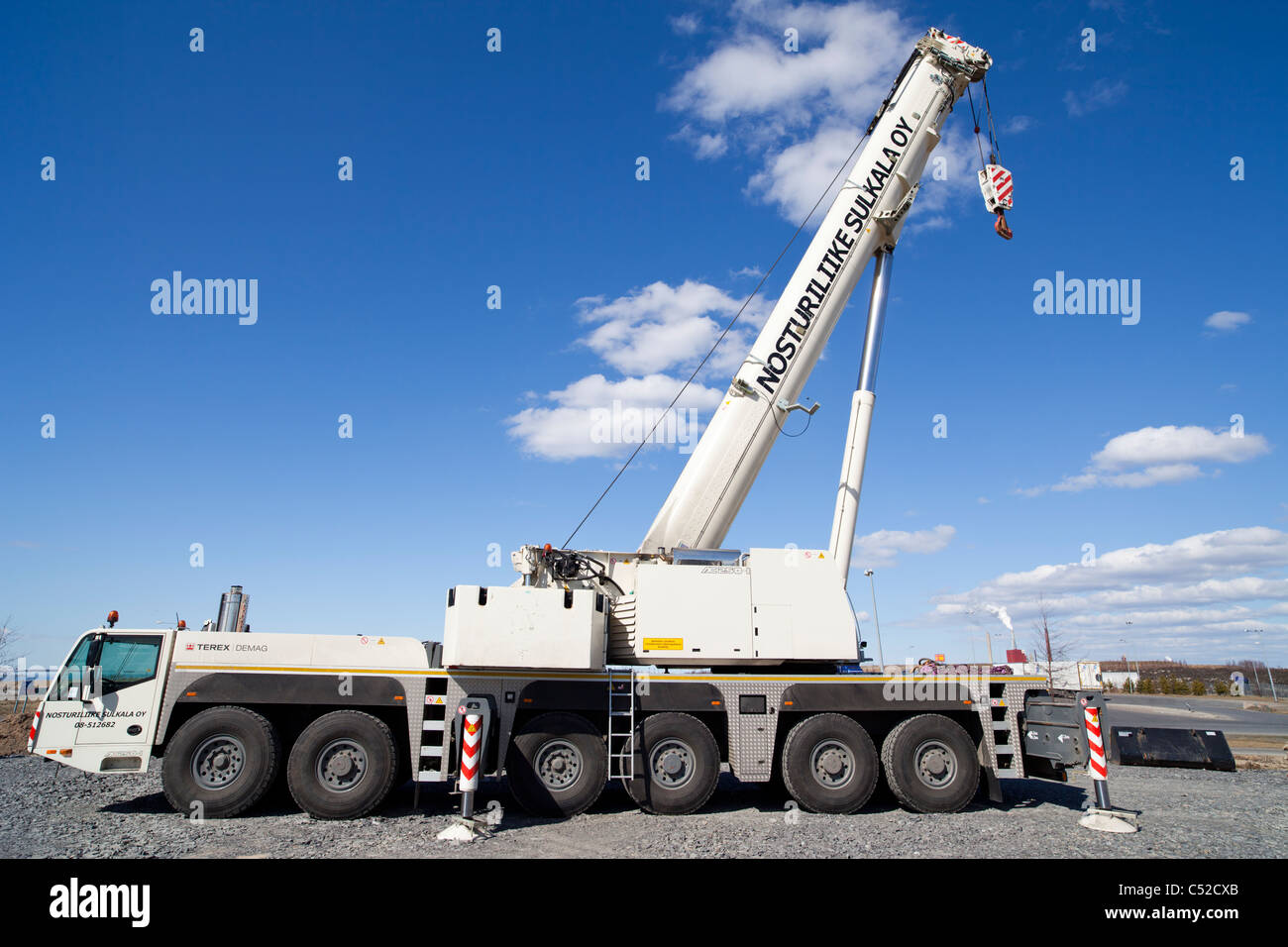 Terex Demag AC 250-1 road mobile crane truck Stock Photo: 37548067