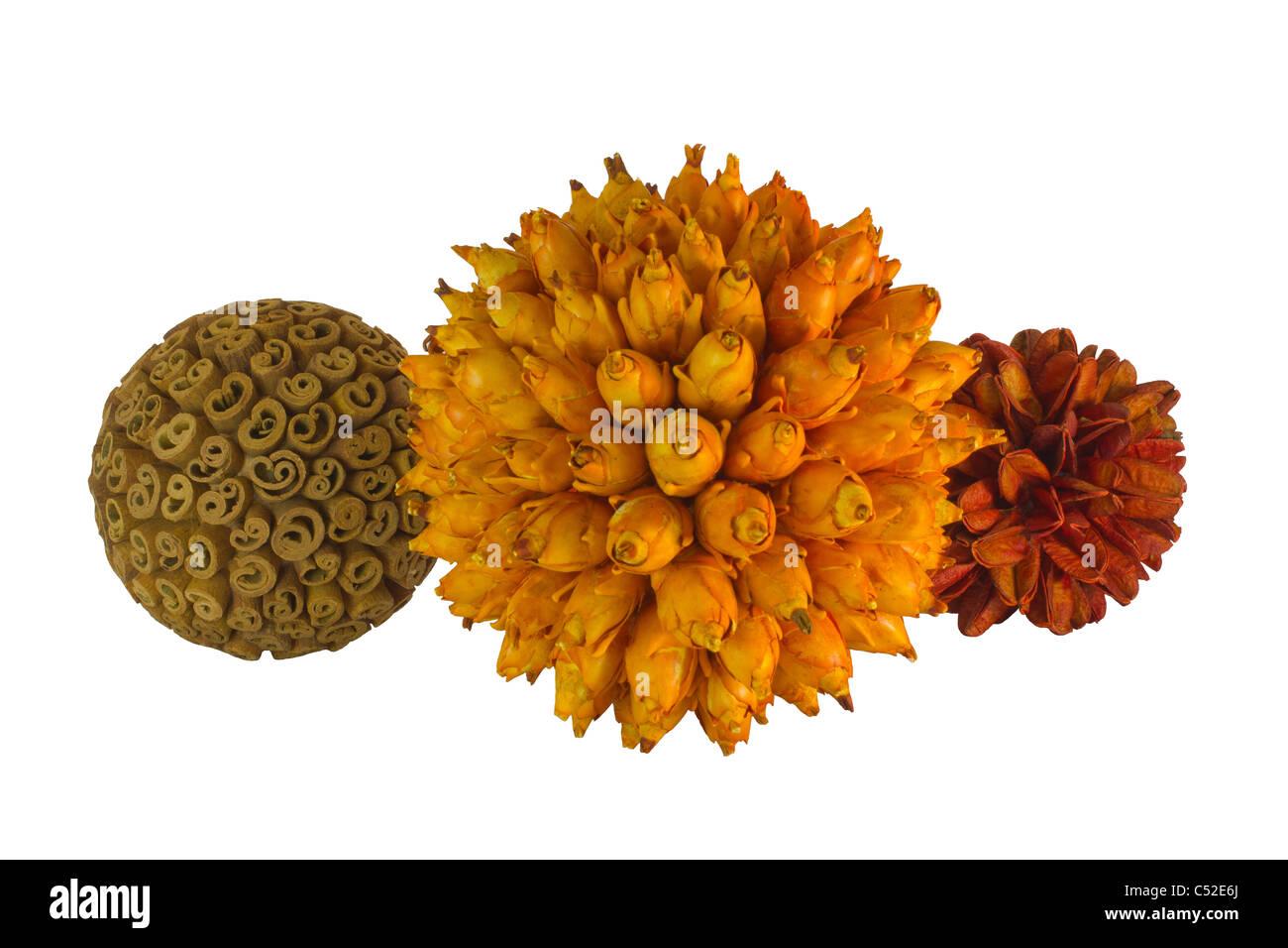 Handcraft ball of Brazilian seed - Stock Image