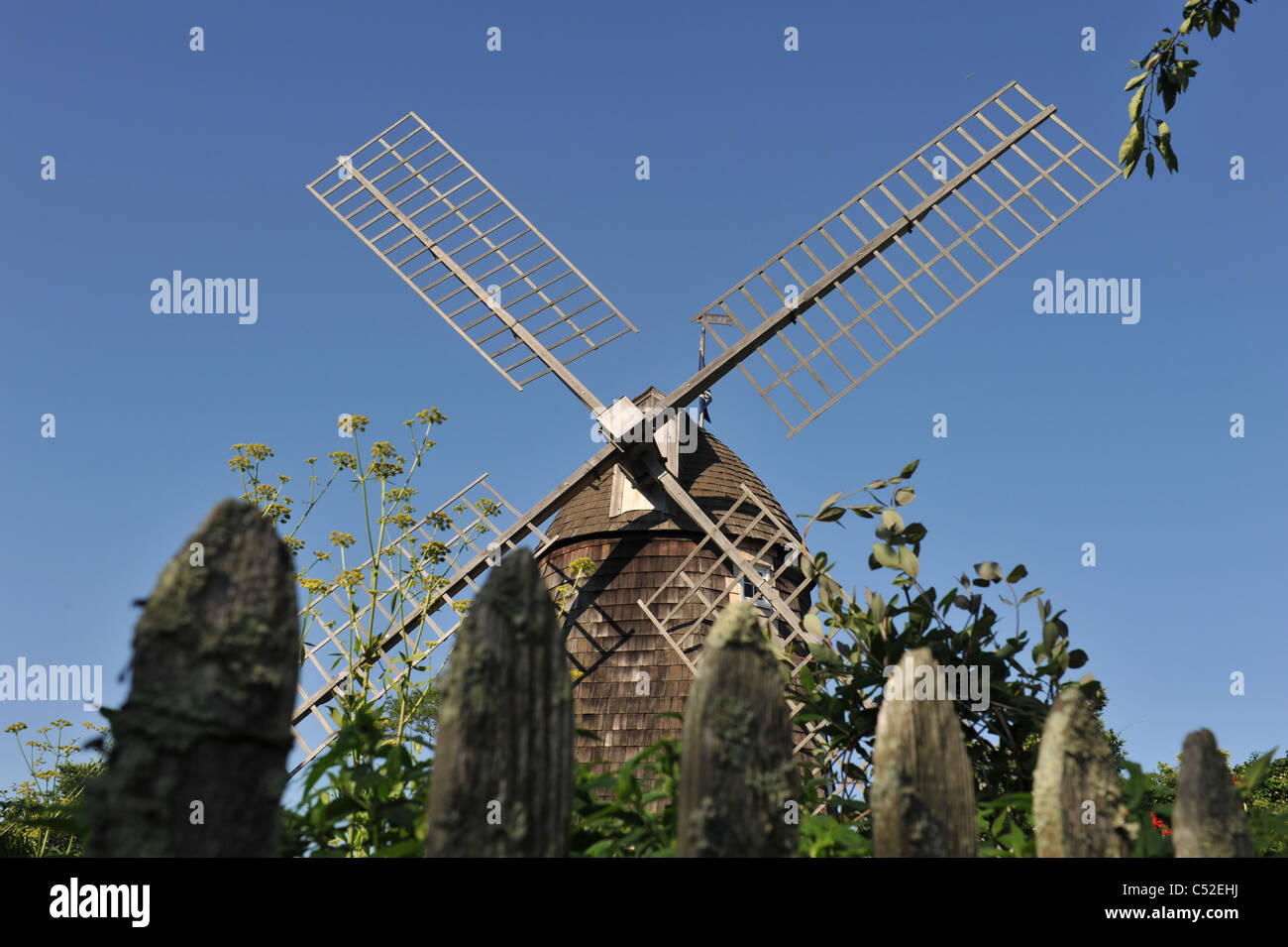 Windmill in the Hamptons, Long Island New York - Stock Image