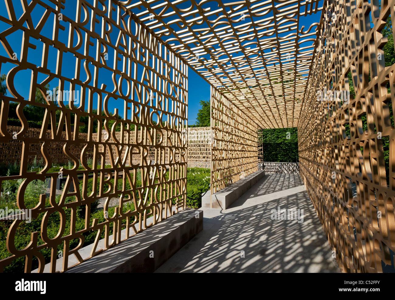 The Christian Garden at Garten der Welt in Marzahn district of Berlin Germany - Stock Image