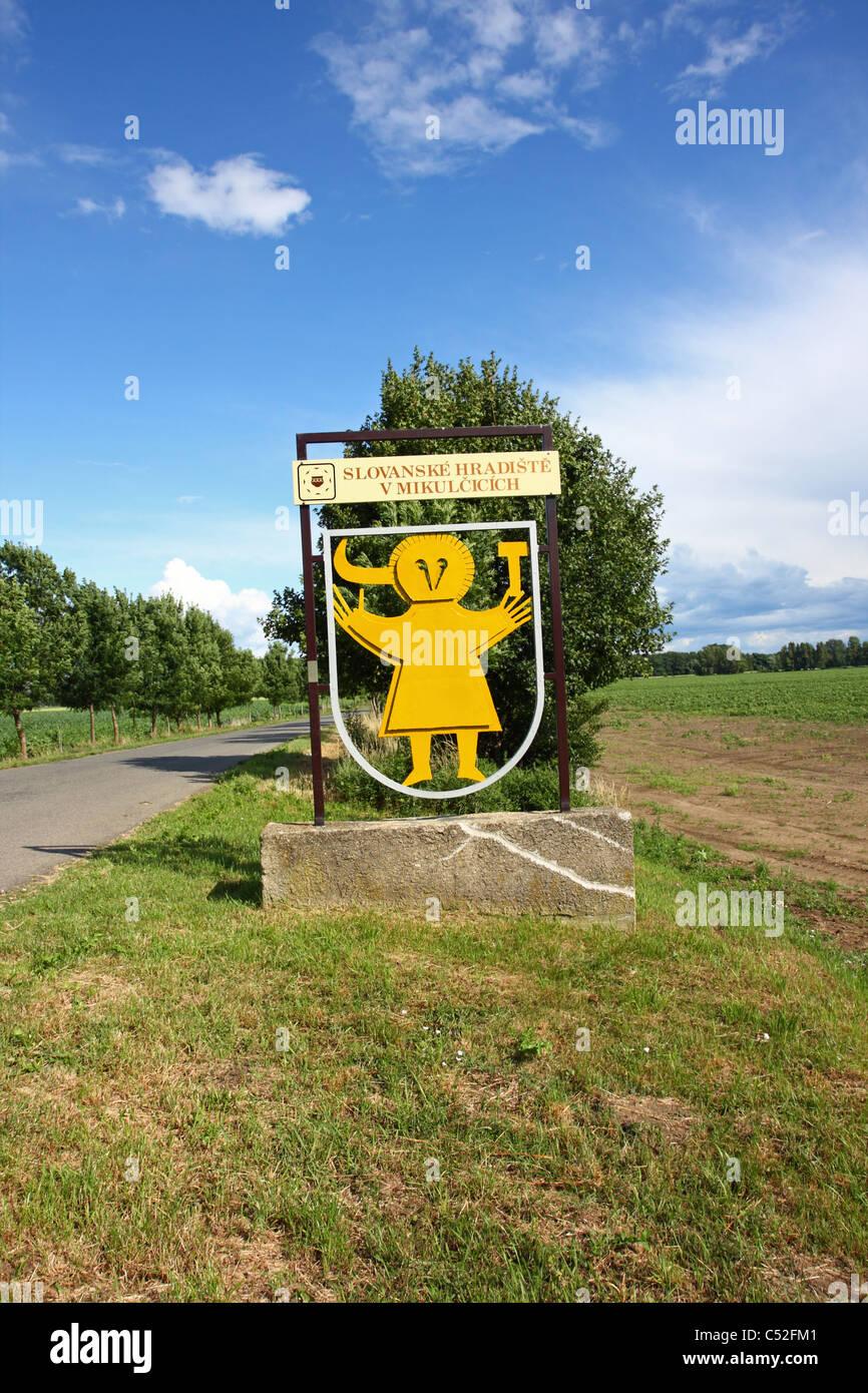 Slavic fortified settlement in Mikulčice, Czech Republic - Stock Image