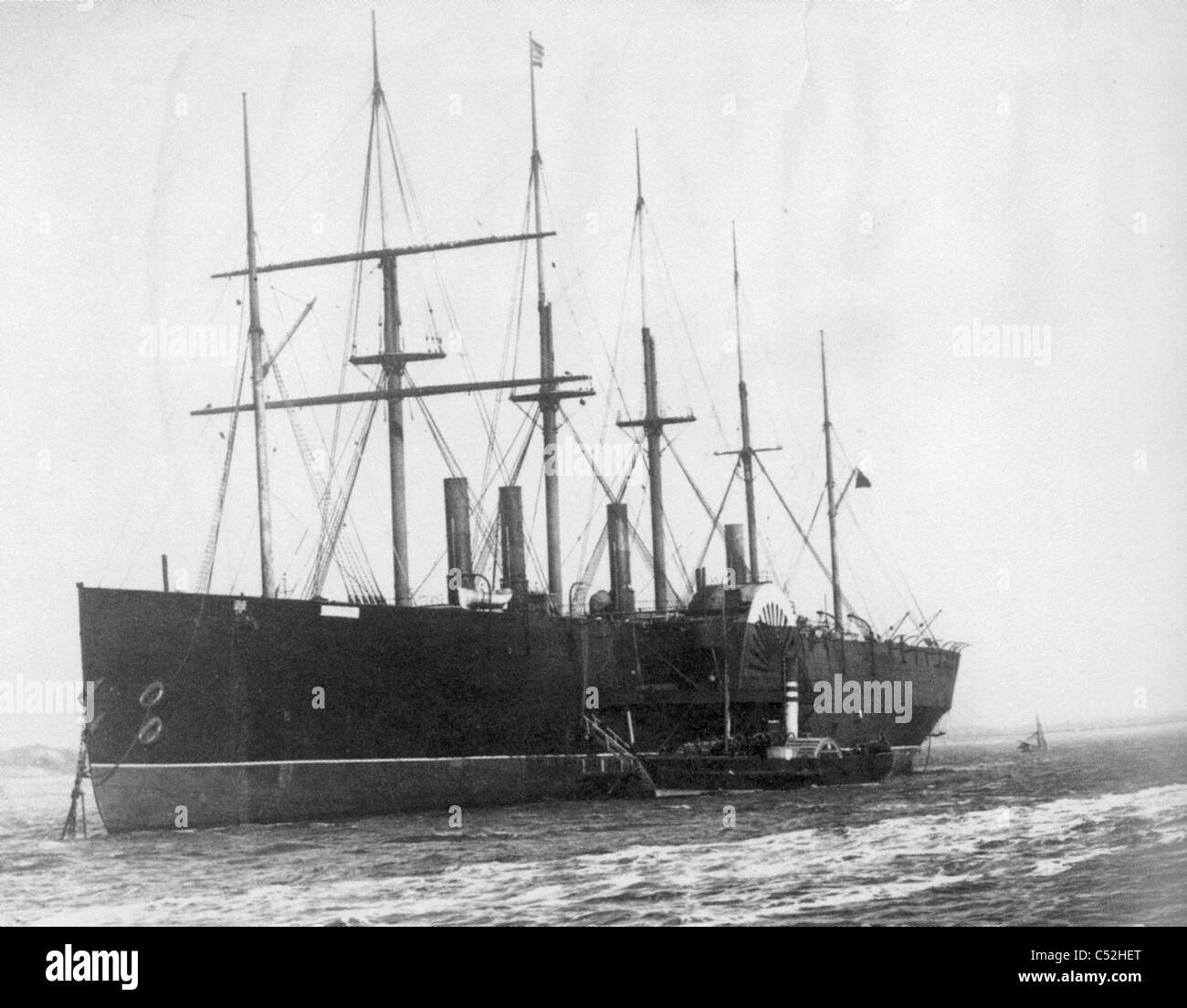 SS GREAT EASTERN  steamship in 1886, designed by Isambard Brunel - Stock Image