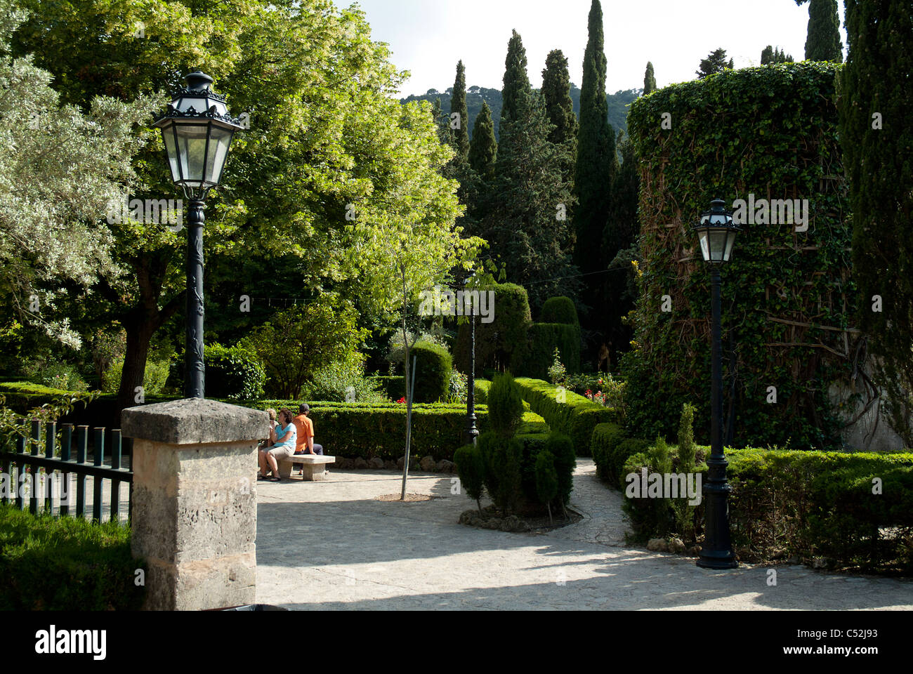 The gardens at La Cartuja,  Valldemossa, Majorca - Stock Image