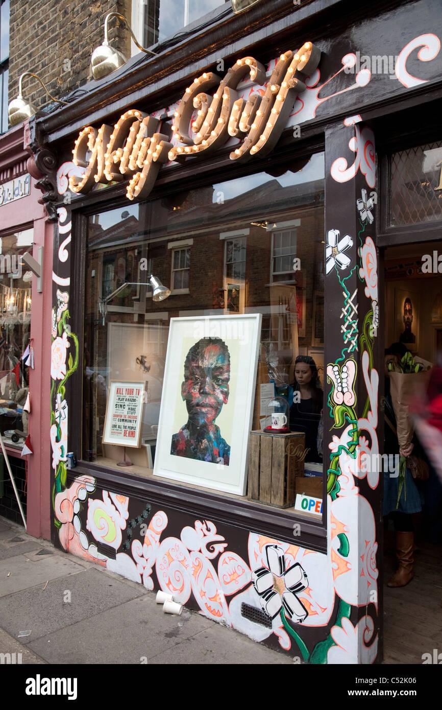 Nelly Duff, Columbia Road, Shoreditch, London - Stock Image