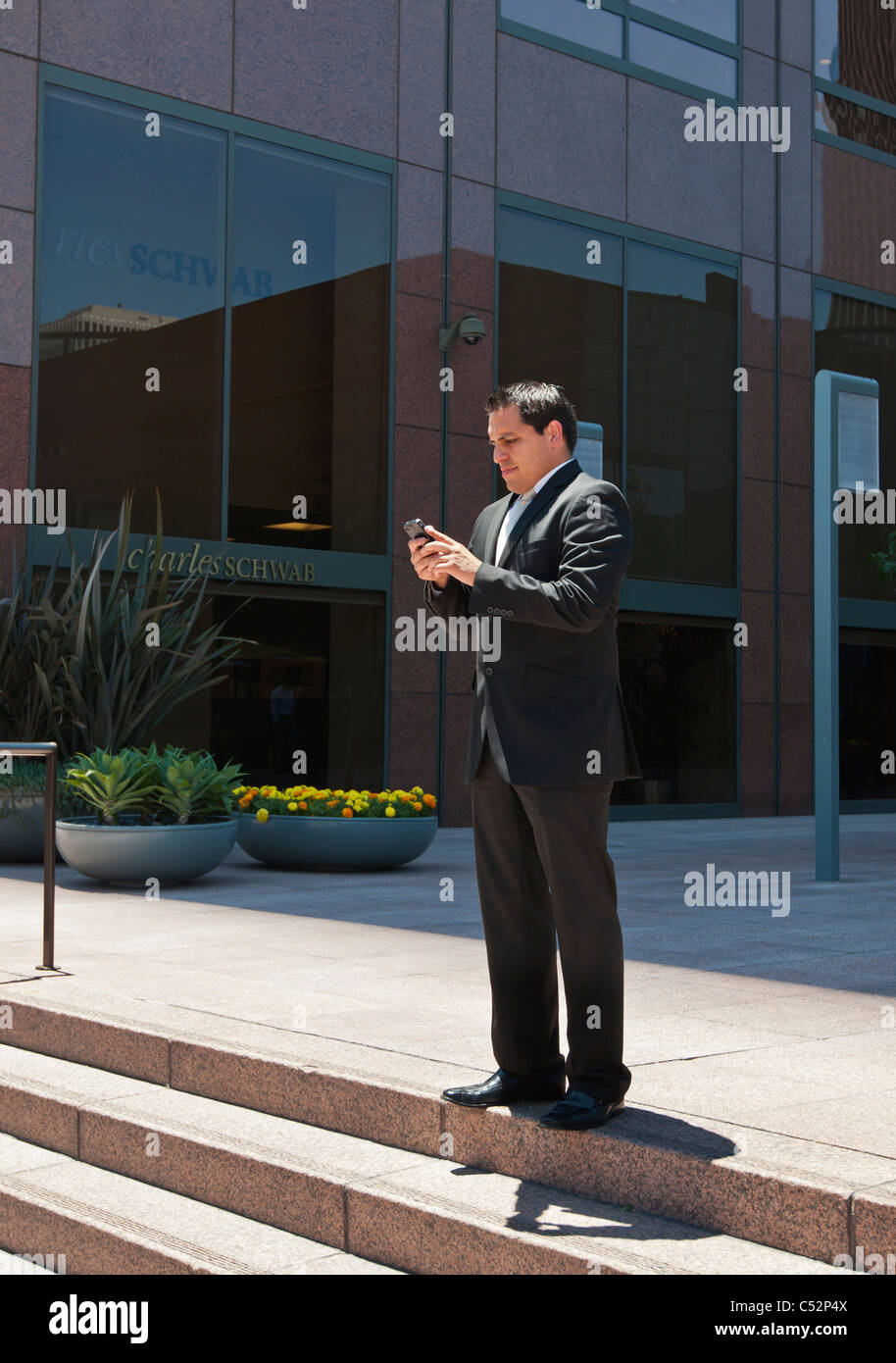 Businesspeople in Downtown. - Stock Image