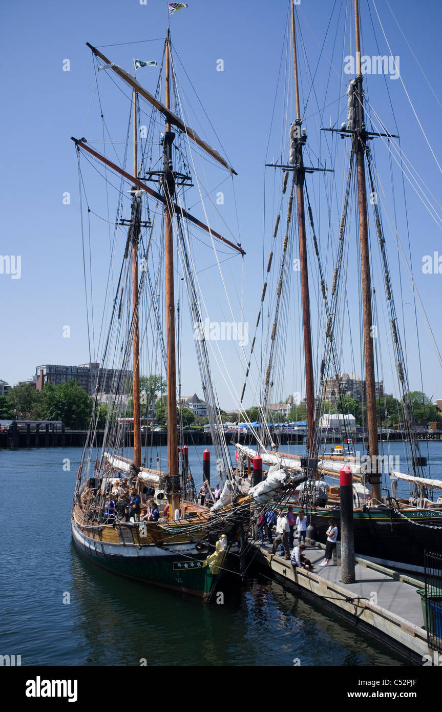 Tall Ships in Victoria Harbour, Vancouver Island, British Columbia-1 - Stock Image