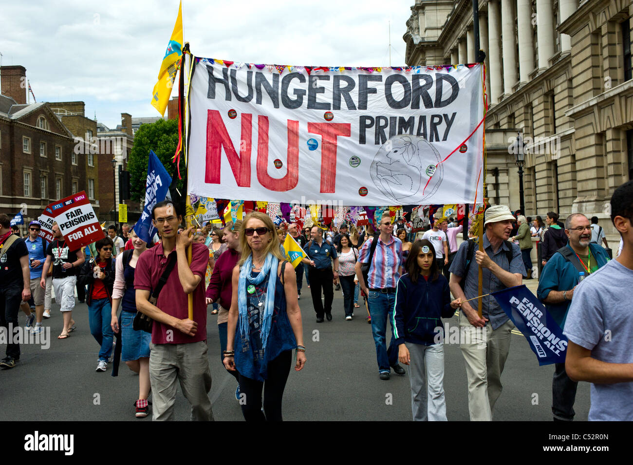 Demonstration against public sector cuts.  Photo by Gordon Scammell Stock Photo