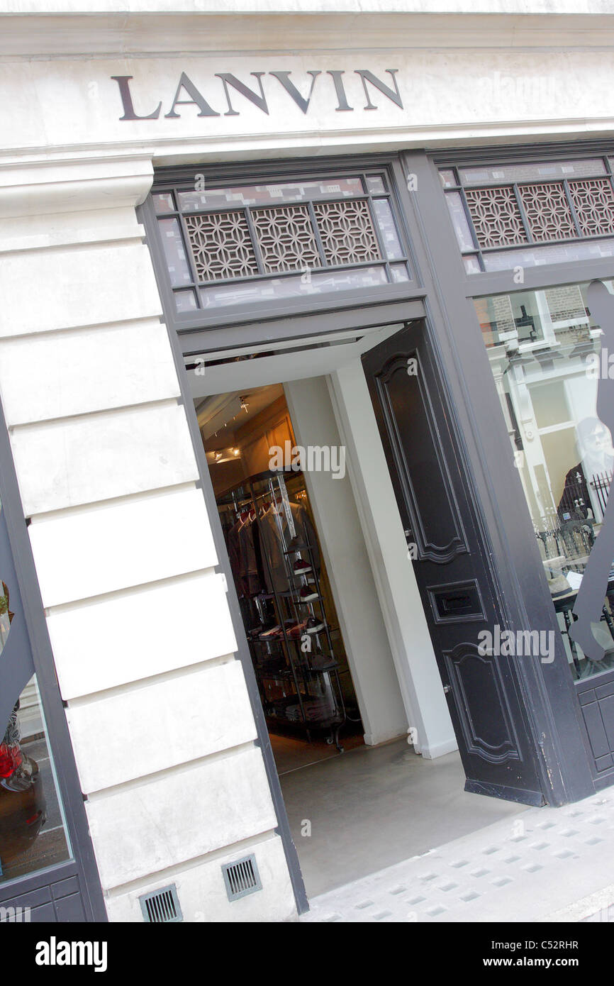 LANVIN, high end menswear retailer situated in Savile Row, the tailoring mecca of London. - Stock Image