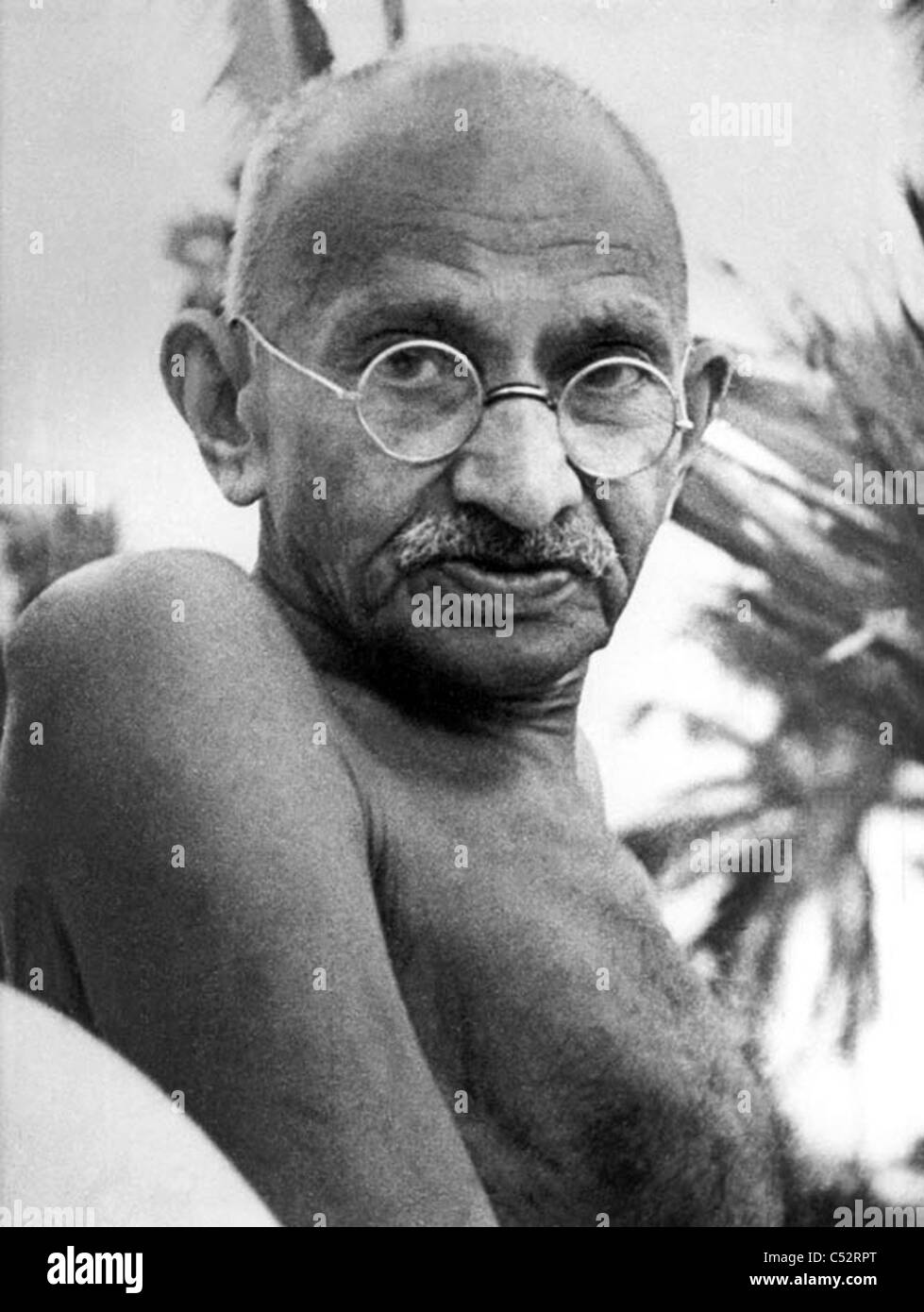 MOHENDRAS GANDHI (1869-1948) Indian political and ideological leader in May 1944 - Stock Image