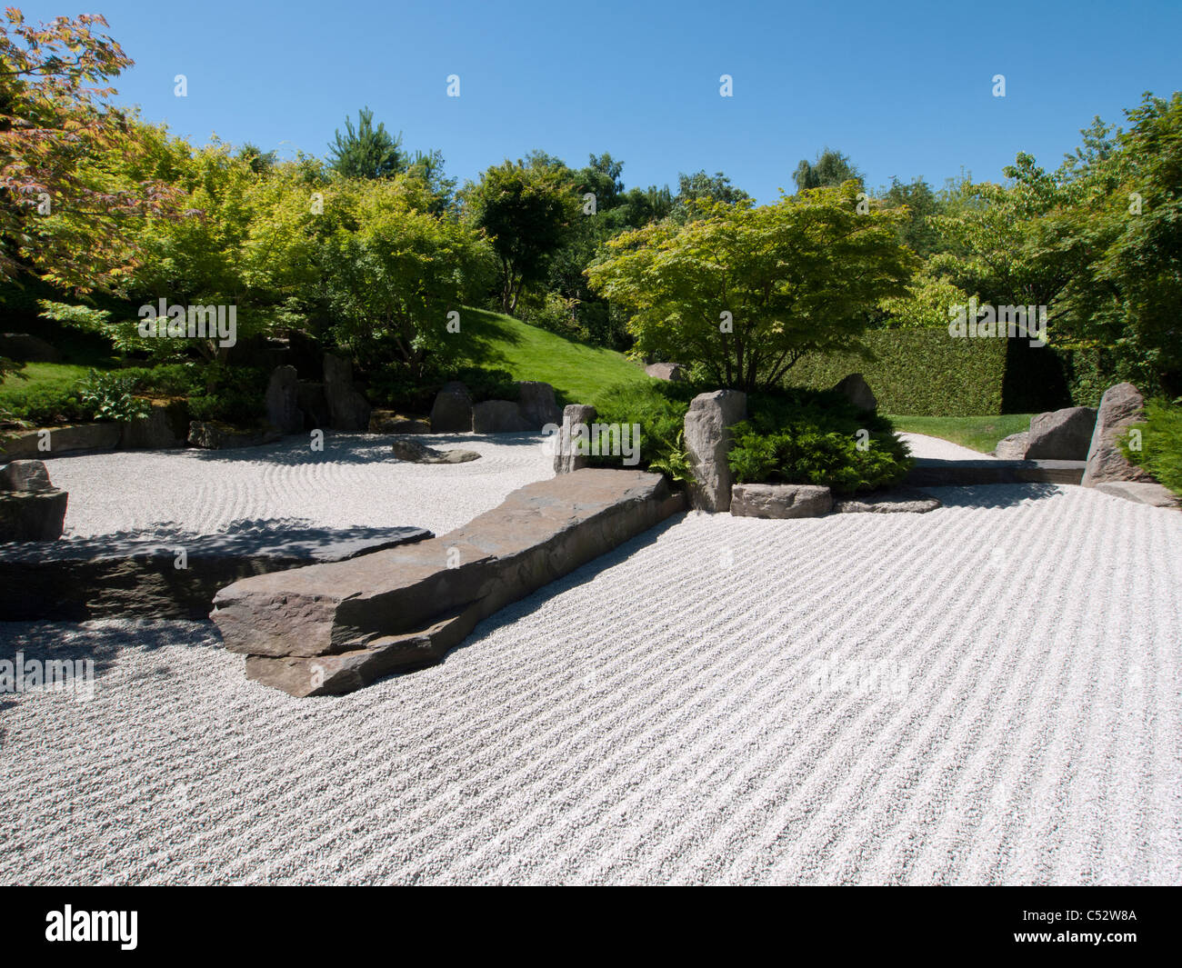 The Japanese Garden at the Garten der Welt in Marzahn district of Berlin Germany - Stock Image