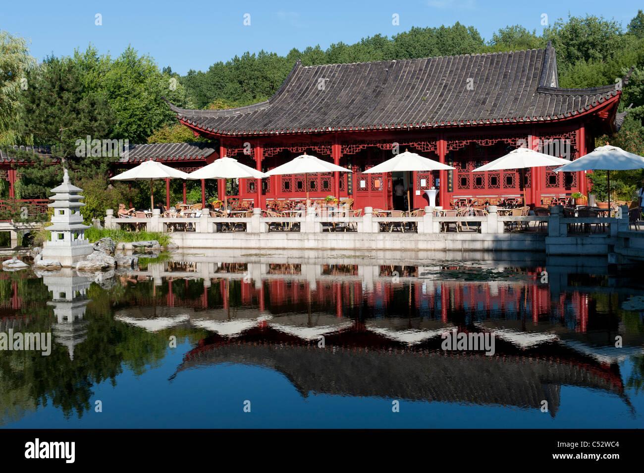The Chinese Garden at the Garten der Welt in Marzahn district of Berlin Germany - Stock Image