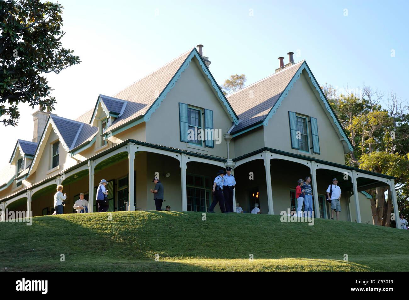 Kirribilli House, Sydney home of the Australian Prime Minister - Stock Image