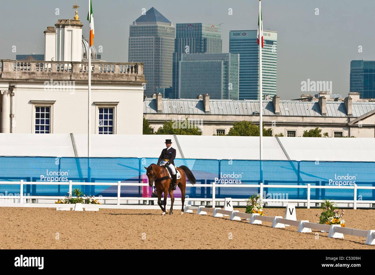 Dressage in Greenwich Park London - Stock Image