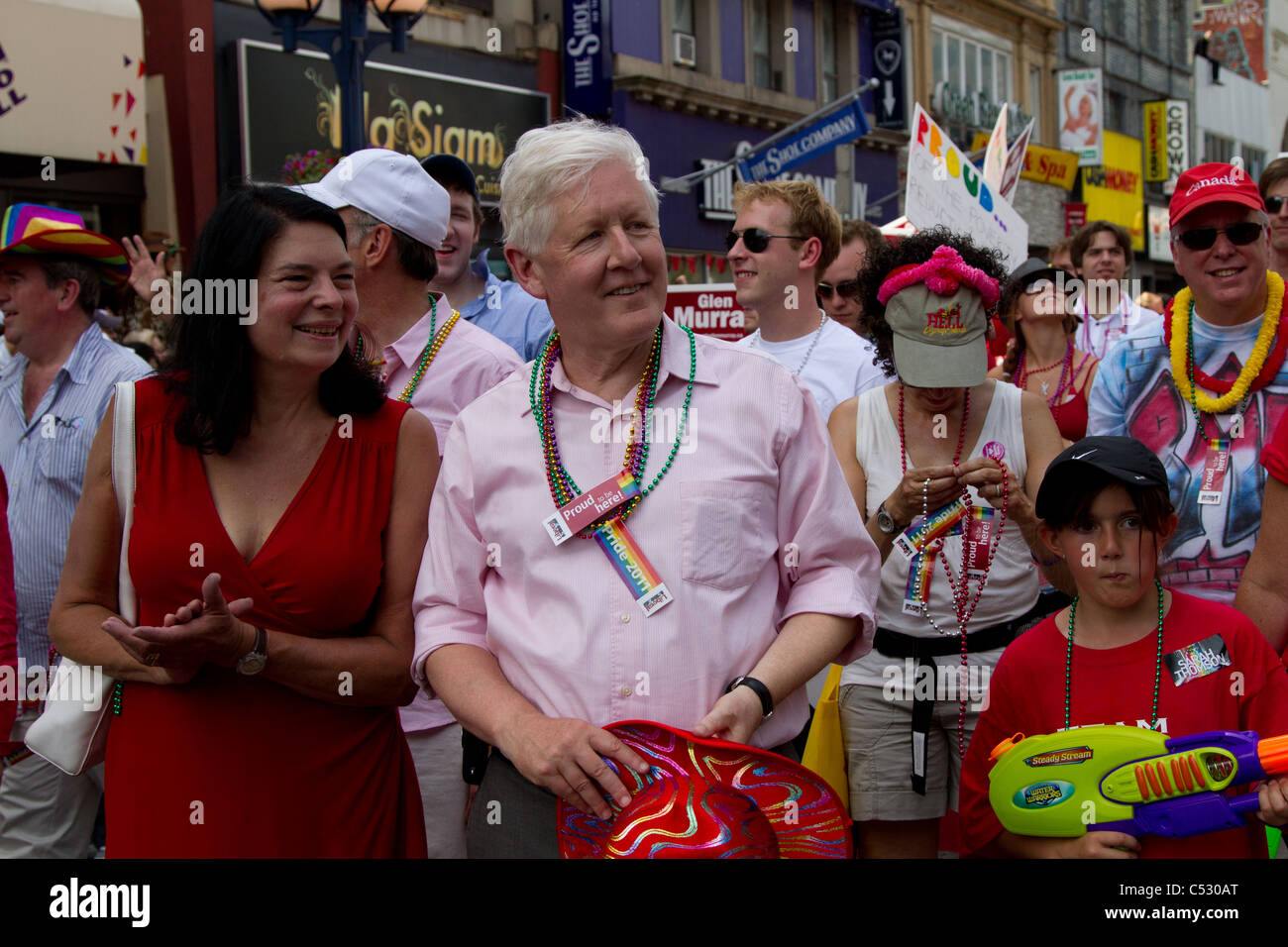 'bob rae' canadian politician liberal pride parade - Stock Image