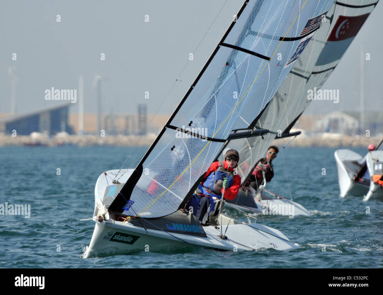 UK, Dorset, IFDS Disabled Sailing Combined World Championships 2011 - Stock Image