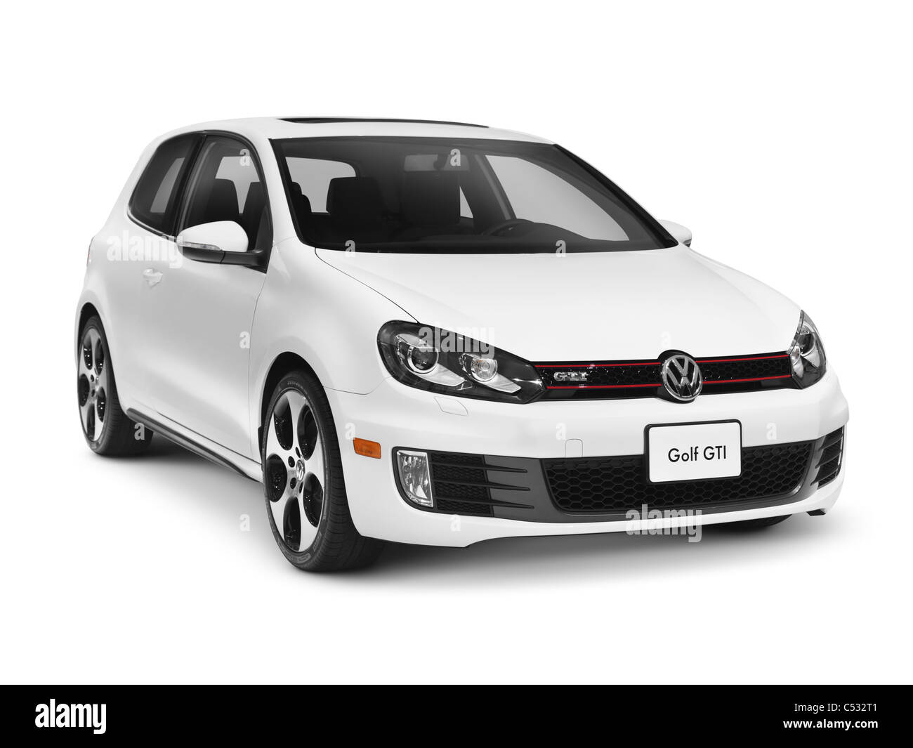 White 2011 Volkswagen Golf Gti Isolated Car With Clipping