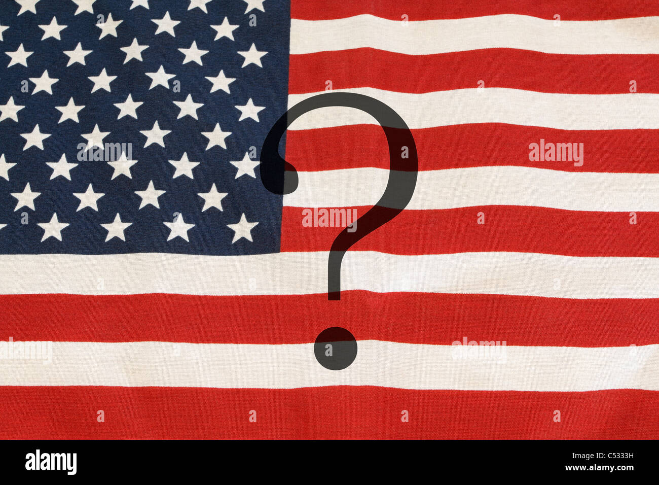 Questioning America's policies and direction. - Stock Image