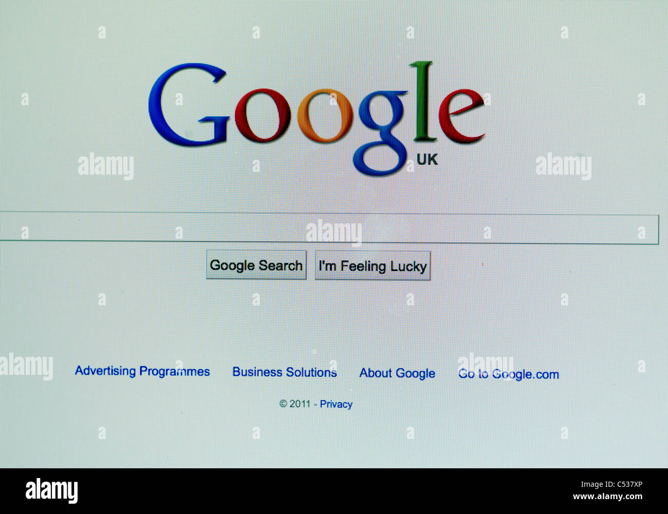 The Google Home page on the screen of an Macbook - Stock Image