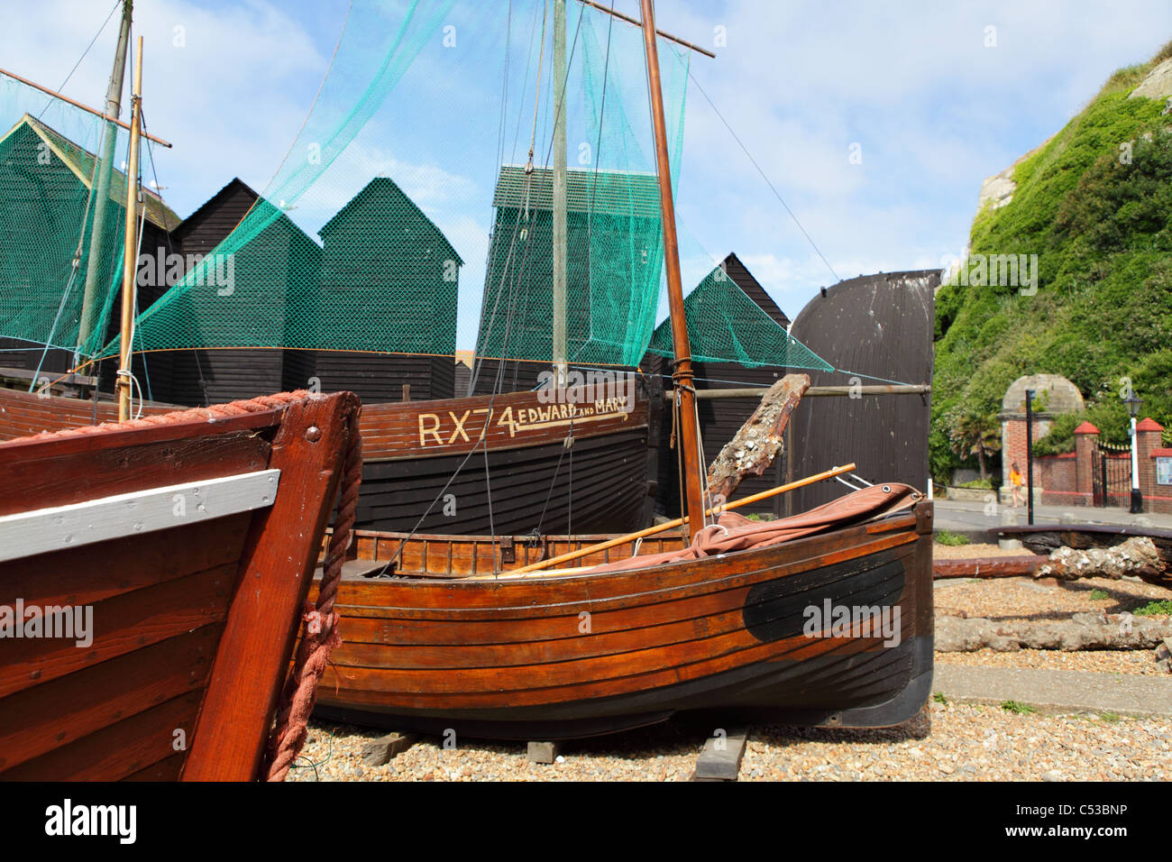 Fishing boats and net huts - Review of The Stade, Hastings ...