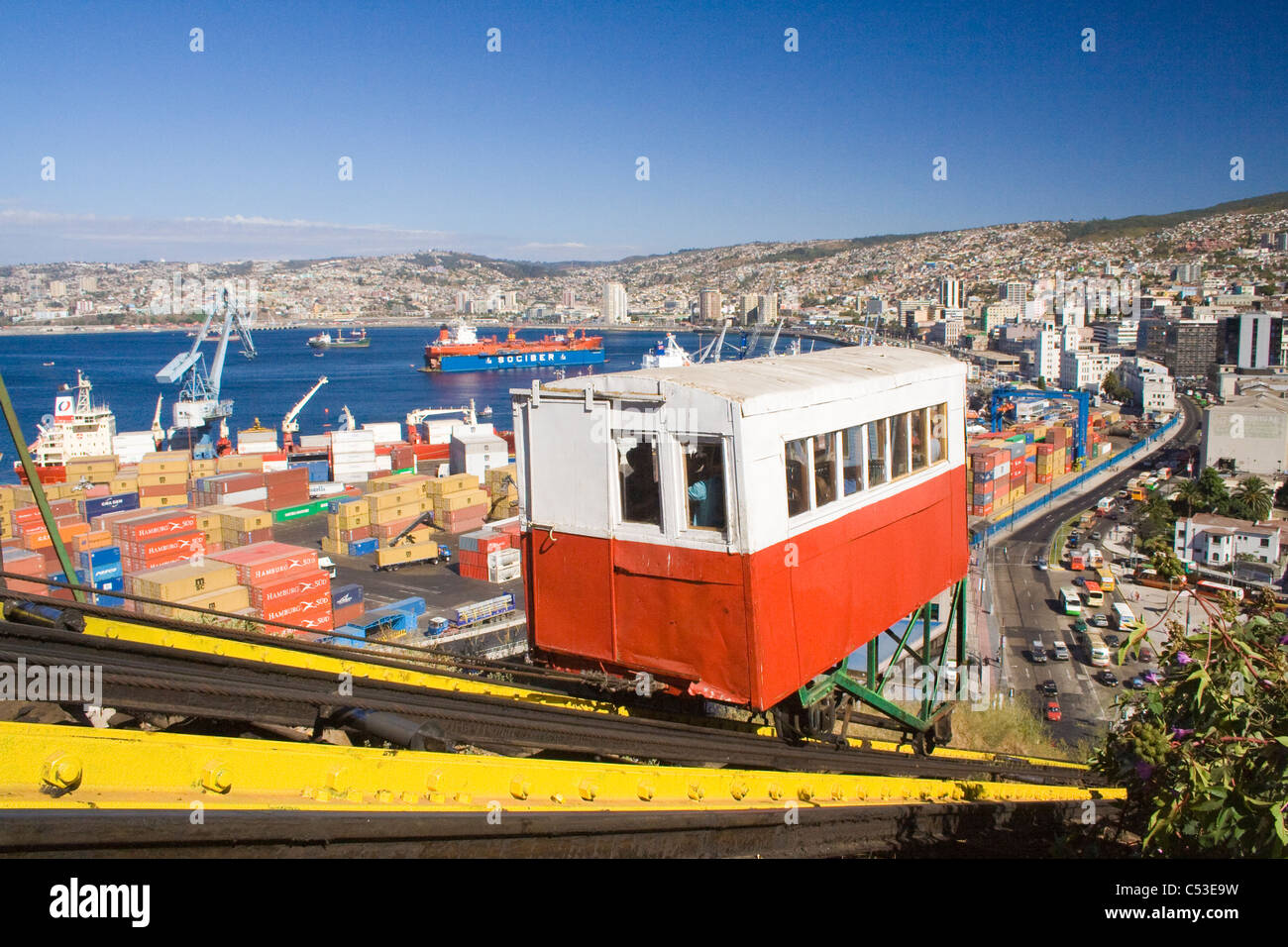San Augustin cable car, Valparaiso, Chile, South America Stock Photo