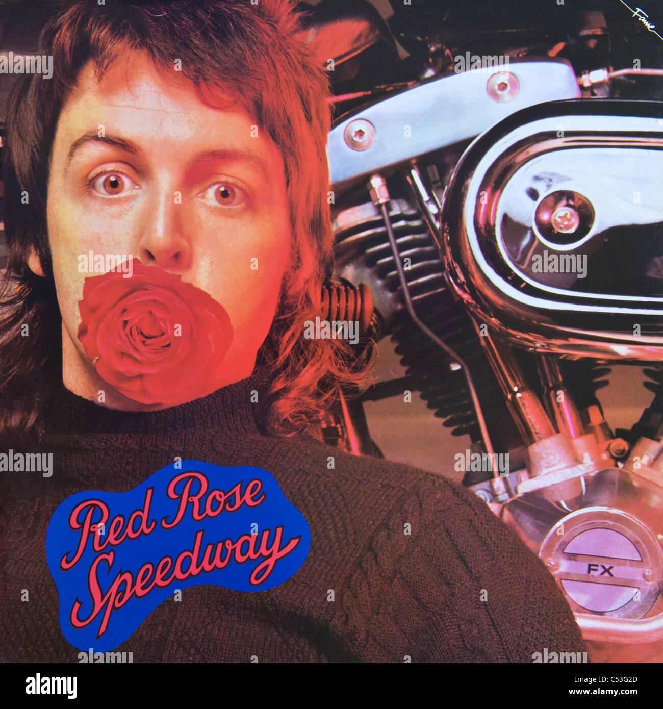 Cover Of Original Vinyl Album Red Rose Speedway By Paul McCartney And Wings Released 1973 On Fame Records