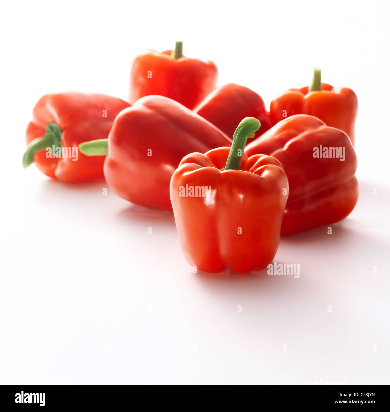 Red sweet pepper isolated on white background Stock Photo