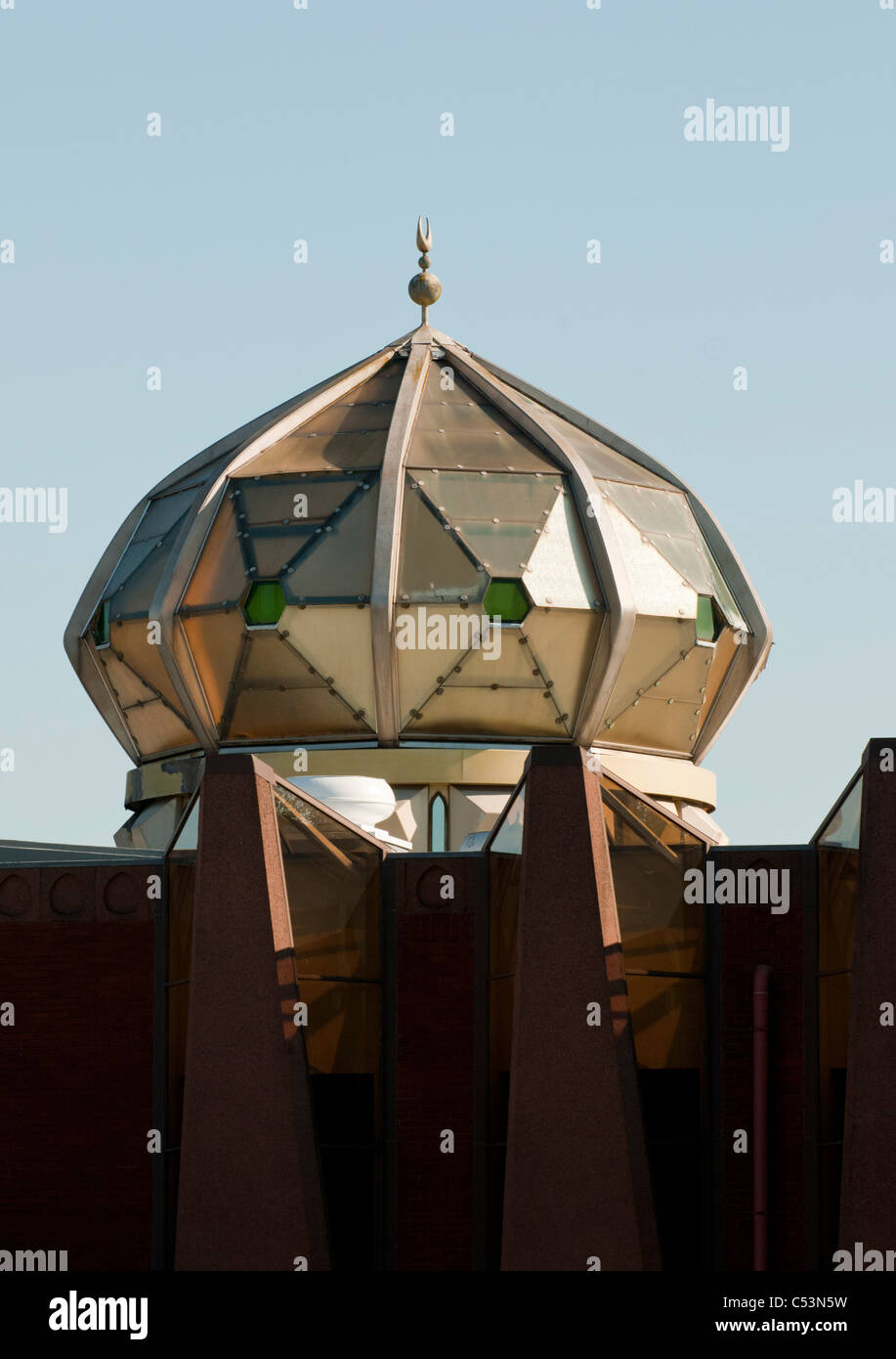 The Dome of the Central Mosque Glasgow. - Stock Image