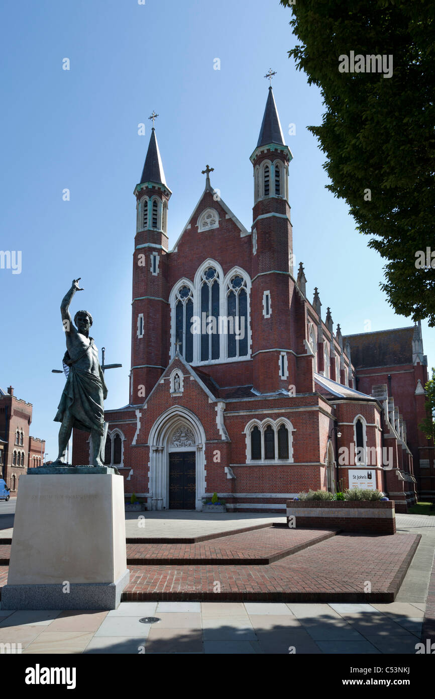 Roman Catholic Cathedral St John's in Portsmouth. - Stock Image