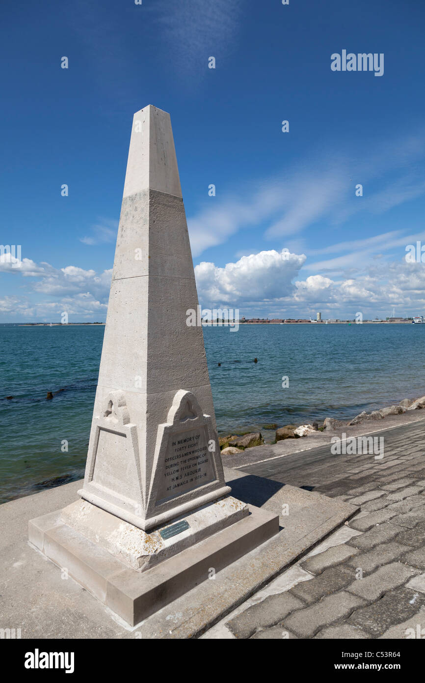 HMS Aboukir memorial on the seafront at Southsea Stock Photo