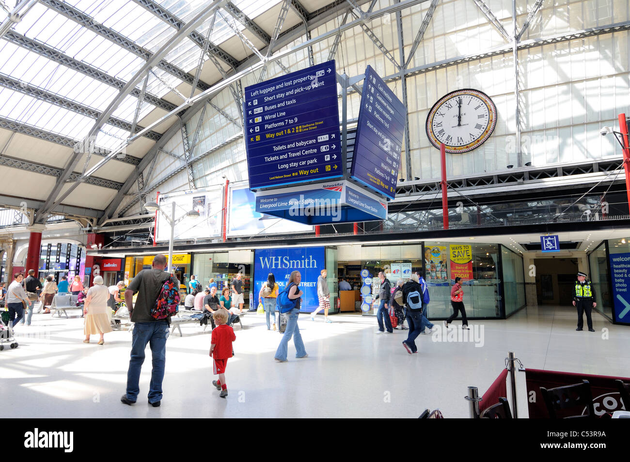Interior Of Liverpool Lime Street Train Station