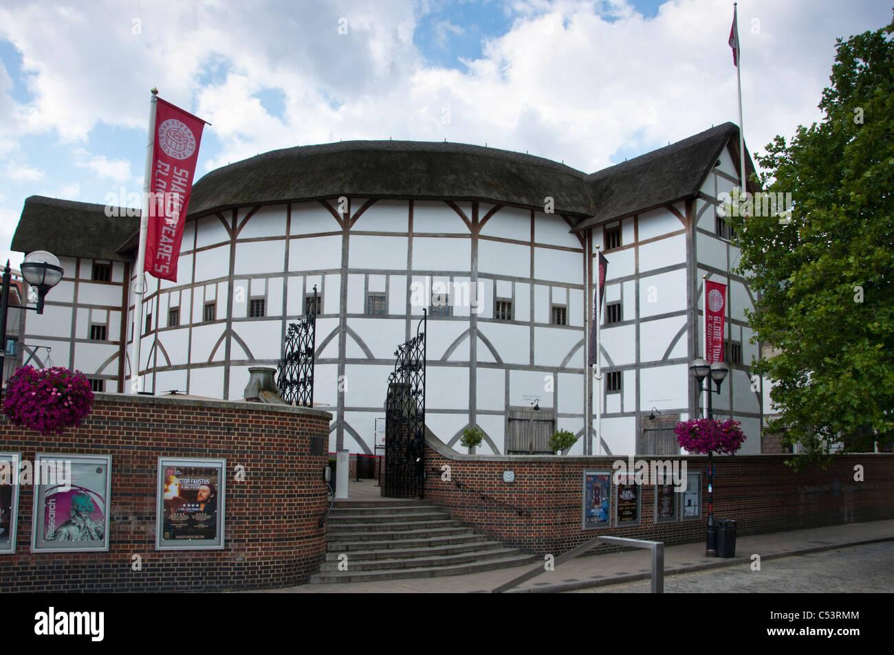 Shakespeare's Globe theatre South Bank, London. UK - Stock Image